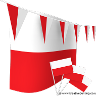 Poland Bunting and Flags Bundle